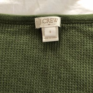 J. Crew Tops - J Crew Army Green Henley EUC - Small